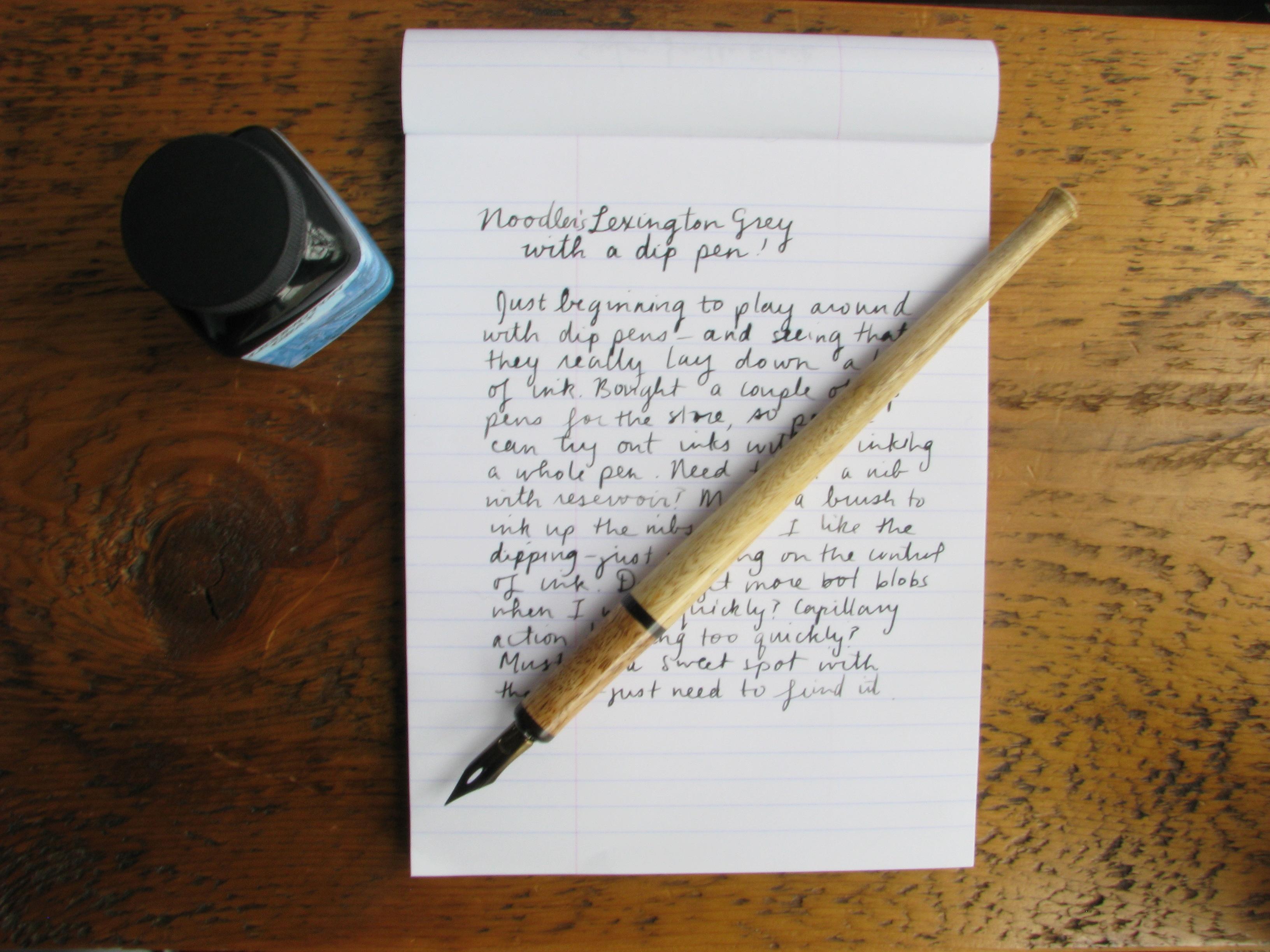 Noodler's Lexington Gray Ink with a Dip Pen | Wonder Pens