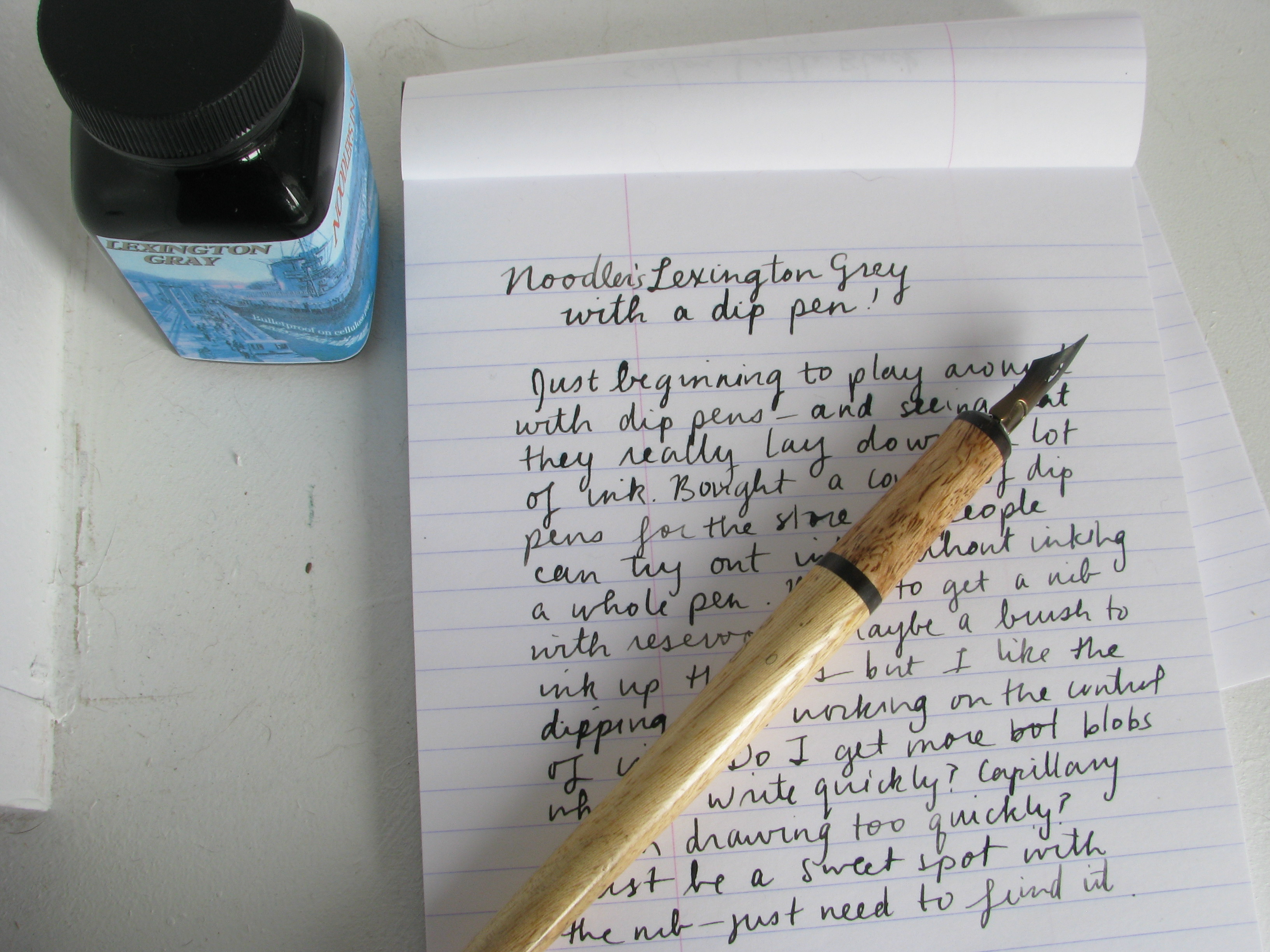 How To Use A Calligraphy Dip Pen