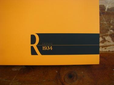 "Rhodia ""R"" Premium Soft-touch Notepad in Orange A4"