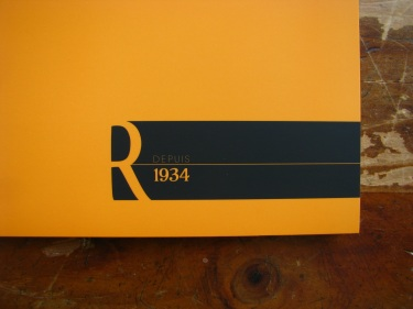 "Rhodia ""R"" Premium Soft-touch Notepad in Orange A4"