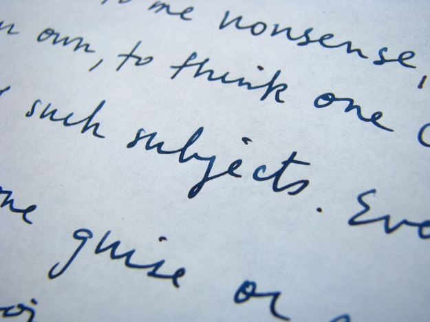 Close-up of Writing Sample on Tomoe River Paper
