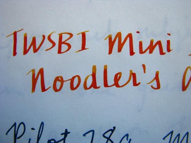 Shading Noodler's Apache Sunset with TWSBI Mini 1.5 Italic Nib
