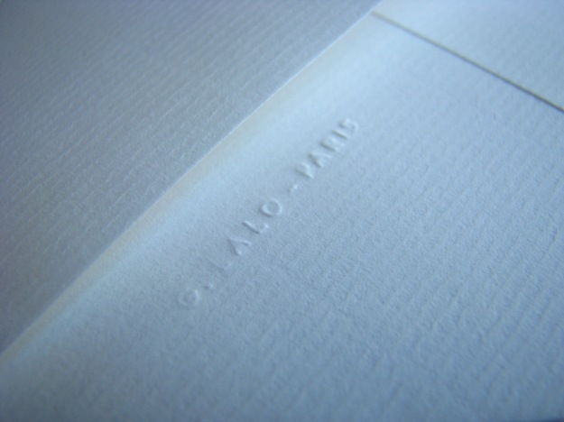 Textured Laid Correspondence Stationery from G. Lalo Verge de France