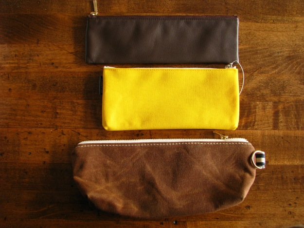 Size Comparison of Life Leather Pen Case, Delfonics Flat Pen Case and Milltown Pen Case