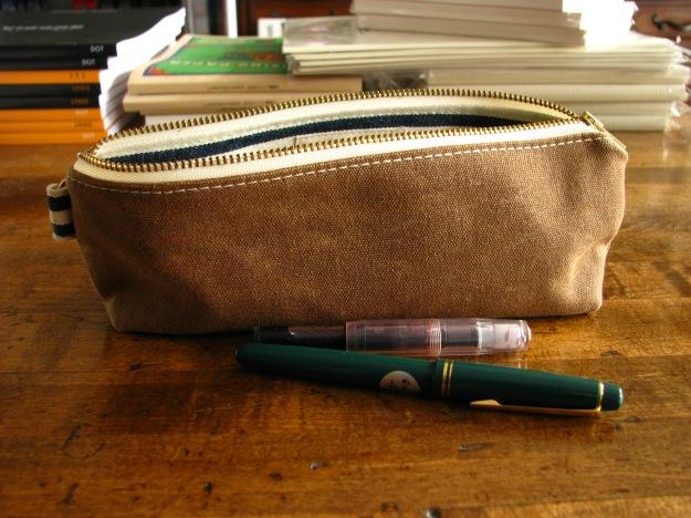 Milltown Pen Case in Nutmeg Brown