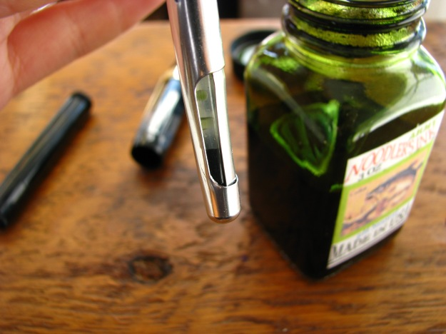 Filling a Kaweco Squeeze Converter Part-Way with Ink