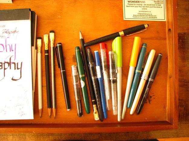 Fountain Pens from Pilot, Platinum, Jinhao, Palomino, Serwex for testing at Wonder Pens in Toronto