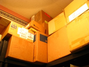 Balancing Boxes in the Back Storage Room