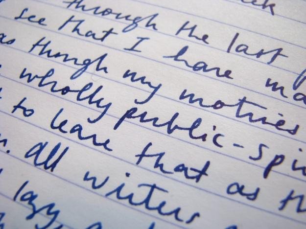 Jinhao 165 Writing Sample with Platinum Blue-Black Ink