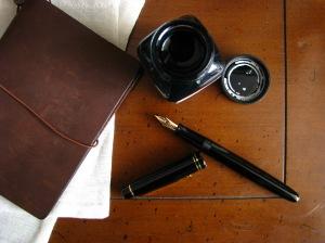 Midori Traveler's Notebook, Pilot 78G and Noodler's Fountain Pen Ink