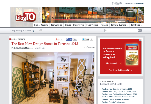 Blog TO Best New Design Stores 2013