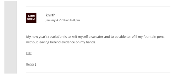 knirth comment