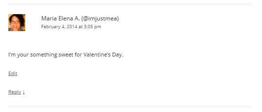 Valentine's Day Contest Winner 2014