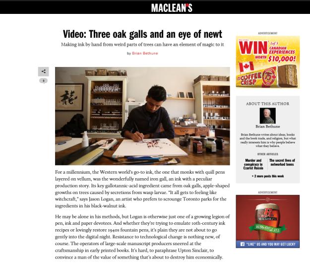 Wonder Pens in Maclean's Magazine