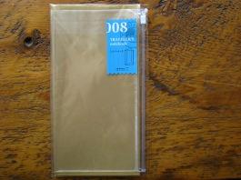 Midori Plastic Zipper Pouch for Regular Size Traveler's Notebook 008