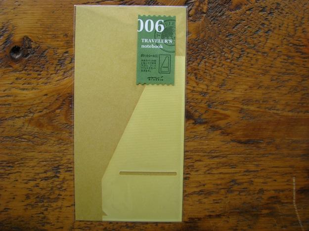 Midori Large Pocket Sticker for Regular Size Traveler's Notebook 006