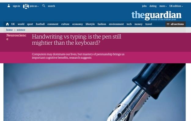 Handwriting Article Guardian