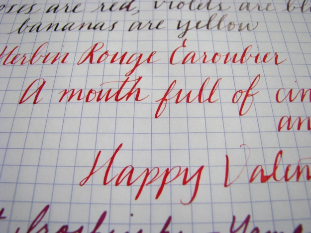 J. Herbin Rouge Caroubier Writing Sample at www.wonderpens.ca