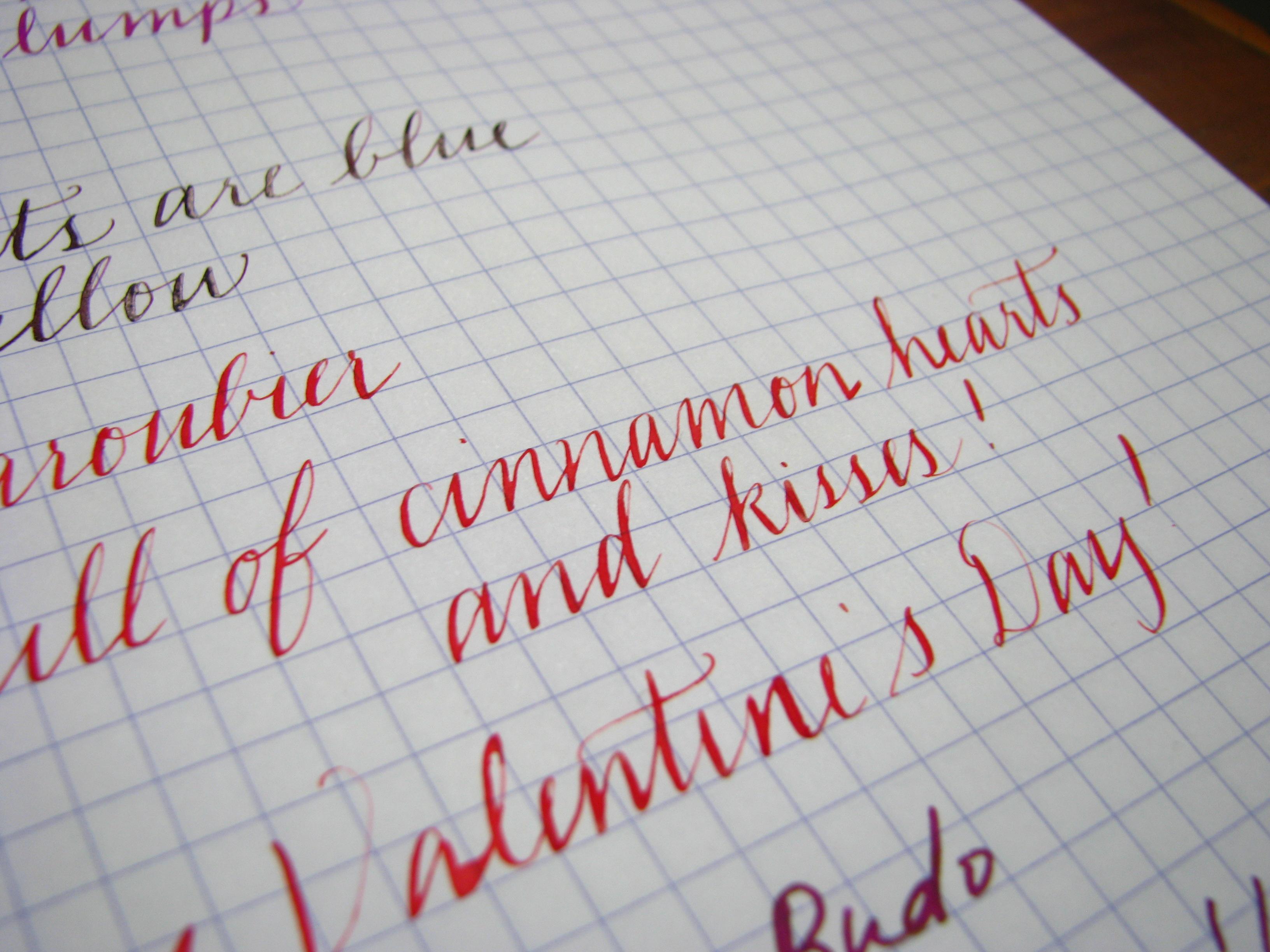 J. Herbin Rouge Caroubier Writing Sample at wonderpens.ca
