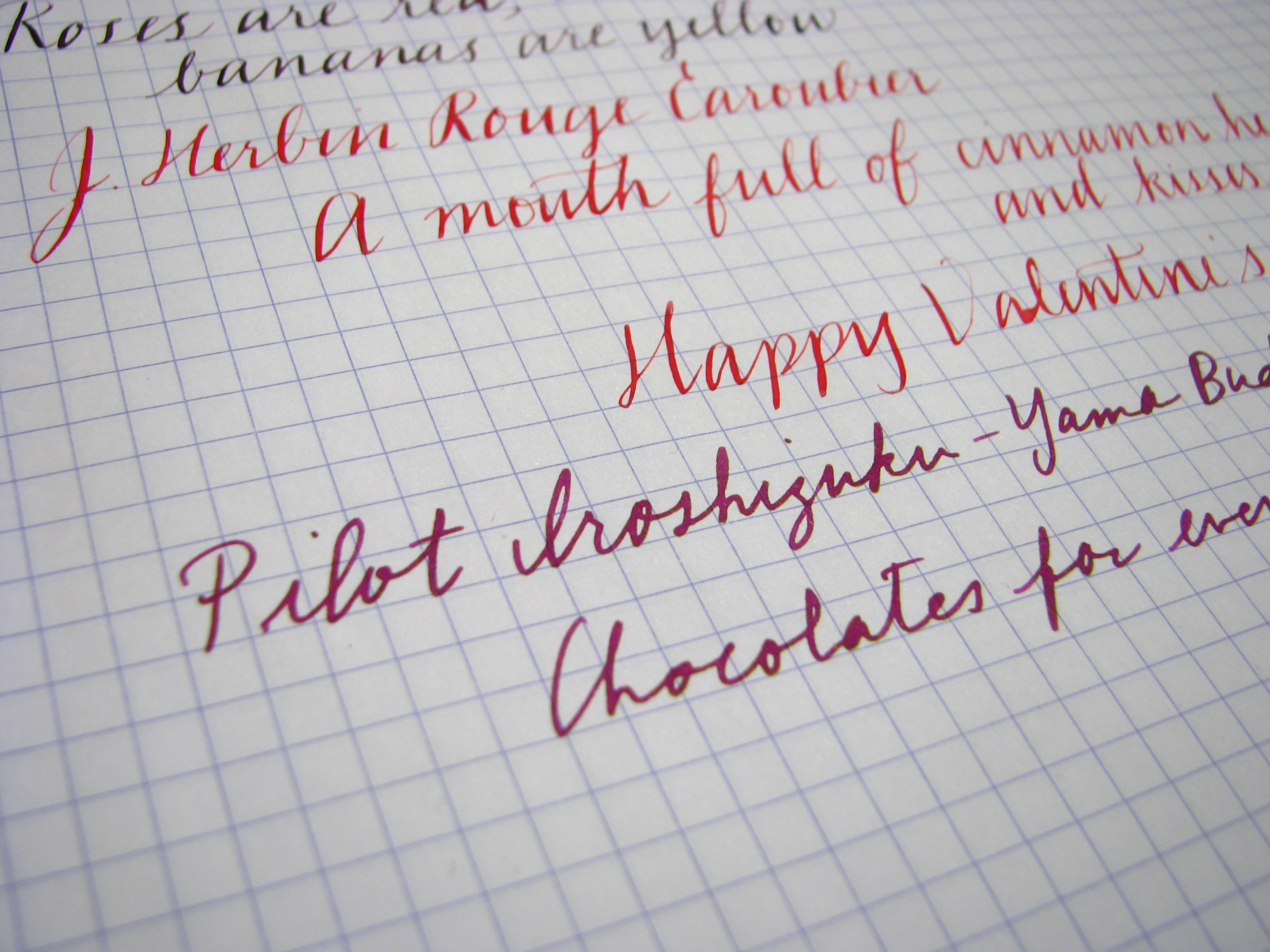 Pilot Iroshizuku Yama-Budo Writing Sample at www.wonderpens.ca