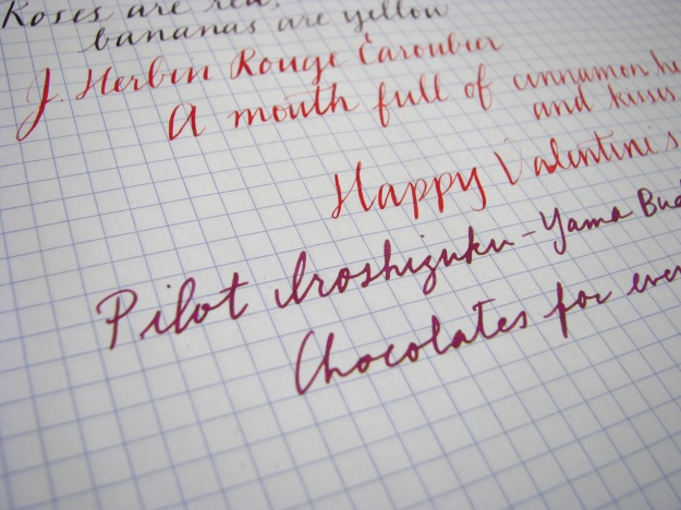 Pilot Iroshizuku Yama-Budo Writing Sample at www.wonderpens.ca