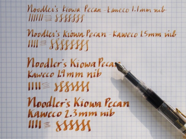 Kaweco Calligraphy Nibs 1.1, 1.5, 1.9, 2.3 Writing Sample at Wonder Pens, wonderpens.ca