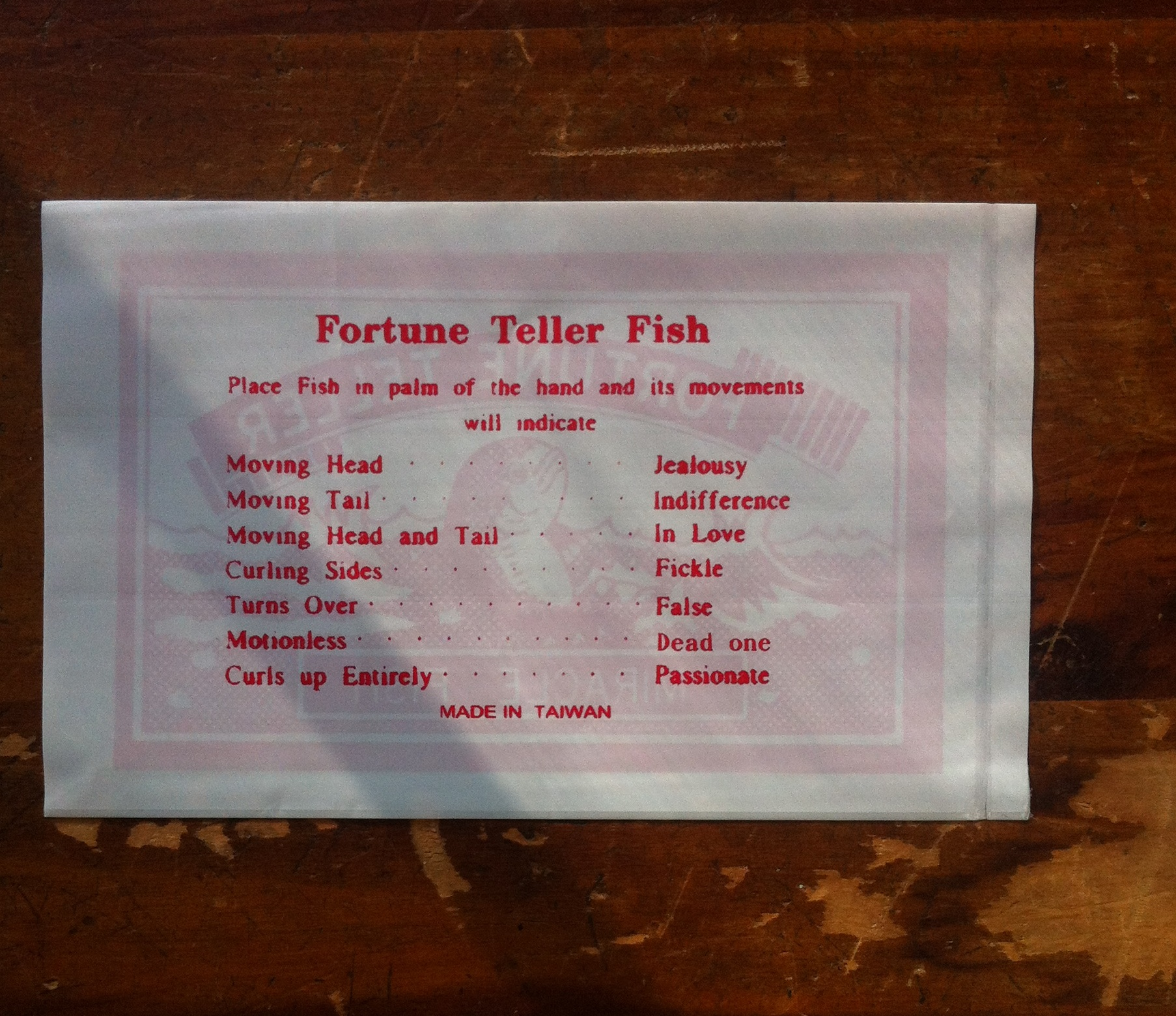 Those fortune telling miracle fish wonder pens life for Fortune teller fish