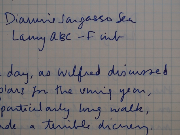 Diamine Sargasso Sea Writing Sample Lamy Fine Nib Wonder Pens wonderpens.ca