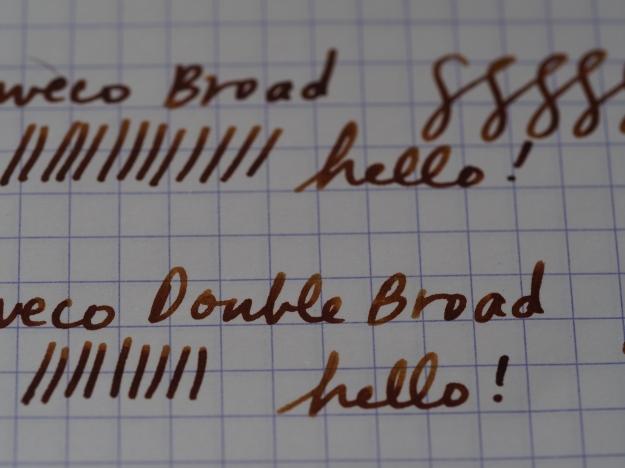 Kaweco Fountain Pen Nib Sizes - Extra Fine, Fine, Medium, Broad, Double Broad Writing Sample