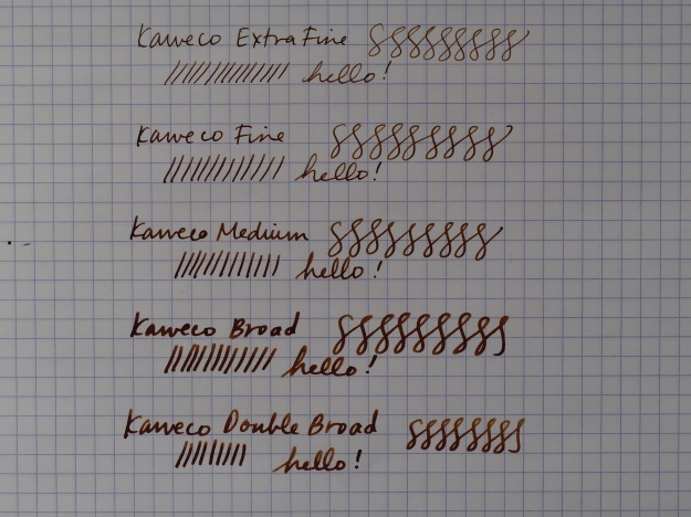Kaweco Fountain Pen Nib Sizes - Extra Fine, Fine, Medium, Broad, Double Broad