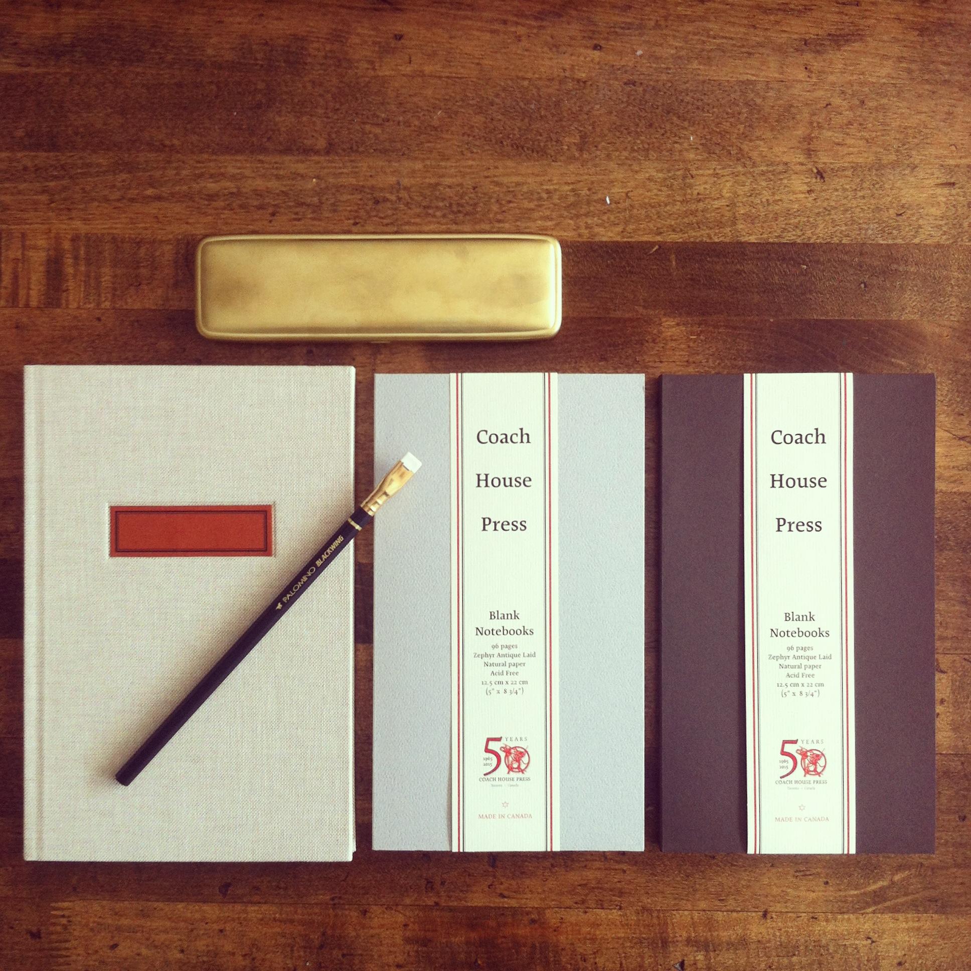 Coach House Press Soft Cover and Hardbound Notebooks