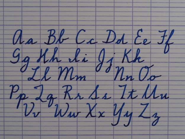 How to Use Seyes Ruling, French Ruled, Handwriting Alphabet Sample