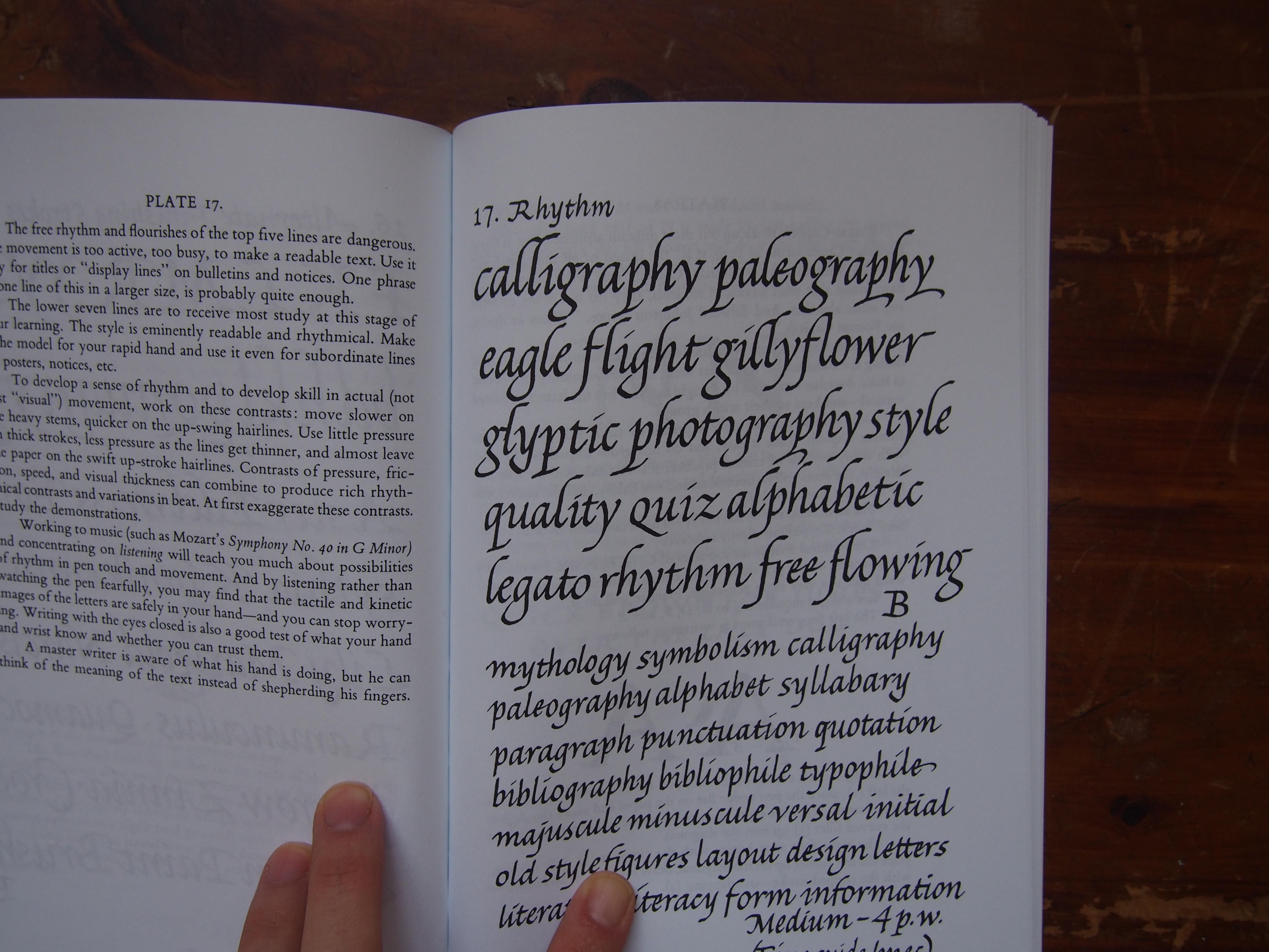 ... & Text by Lloyd J. Reynolds Calligraphy Workshop Toronto, Canada
