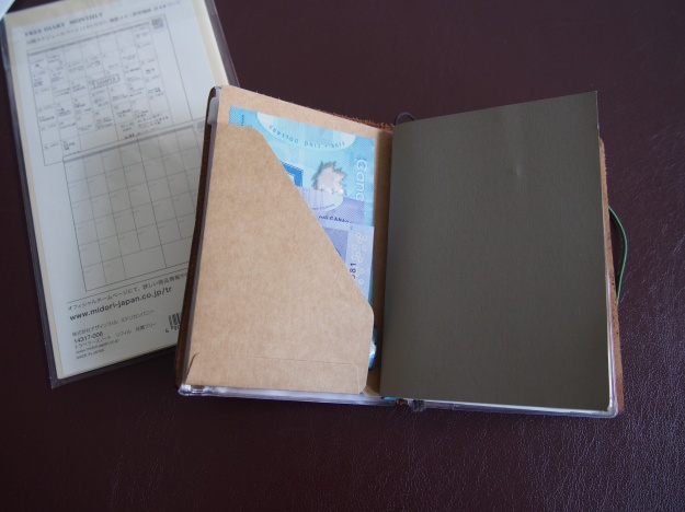 Kraft Folder 010 for Passport Midori Traveler's Notebook Wonder Pens Toronto Canada