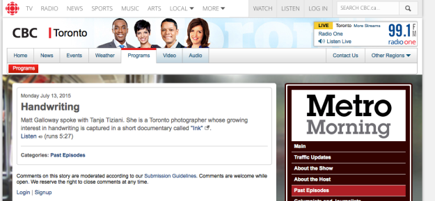 CBC Metro Morning
