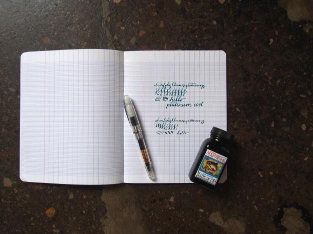 Platinum Cool Fountain Pen Review Soft Nib Wonderpens.ca Wonder Pens Blog Toronto Canada
