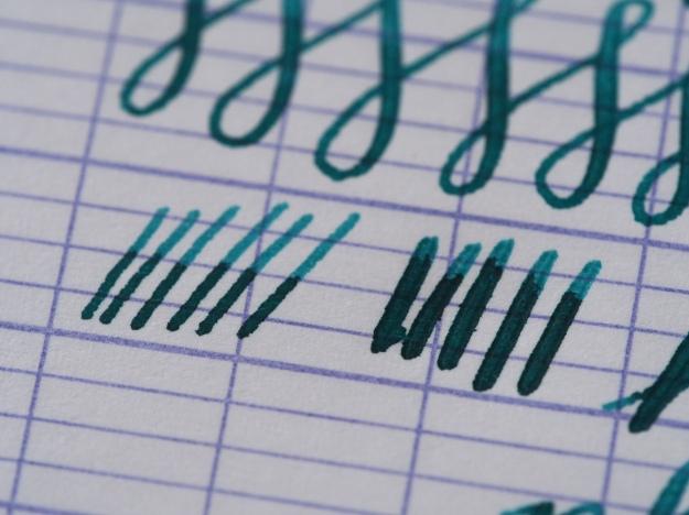 Platinum Cool Writing Sample Medium Nib Noodler's Turquoise Wonder Pens wonder pens.ca Blog Toronto Canada