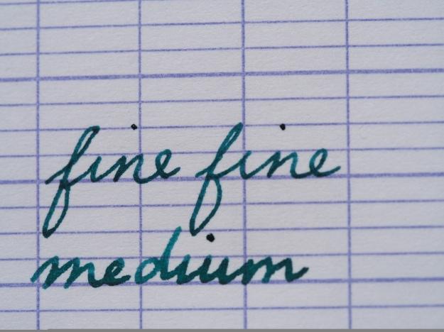 Platinum Cool Review Writing Sample Noodler's Turquoise Wonder Pens Blog wonder pens.ca Toronto Canada