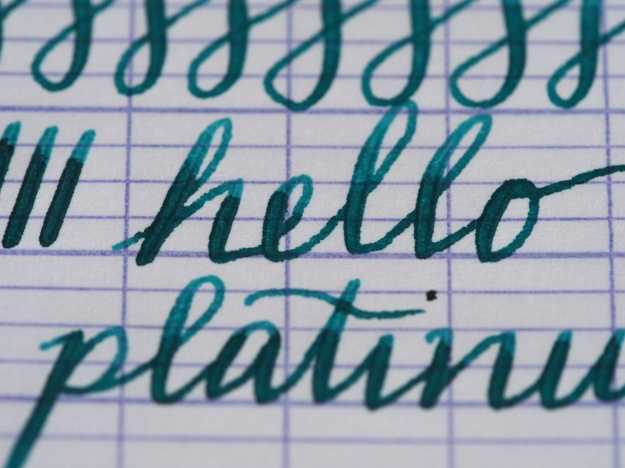 Platinum Cool Fountain Pen Review Writing Sample wonderpens.ca Wonder Pens Blog Toronto Canada