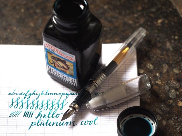 Platinum Cool Noodler's Turquoise Wonder Pens Blog wonderpens.ca Toronto Canada