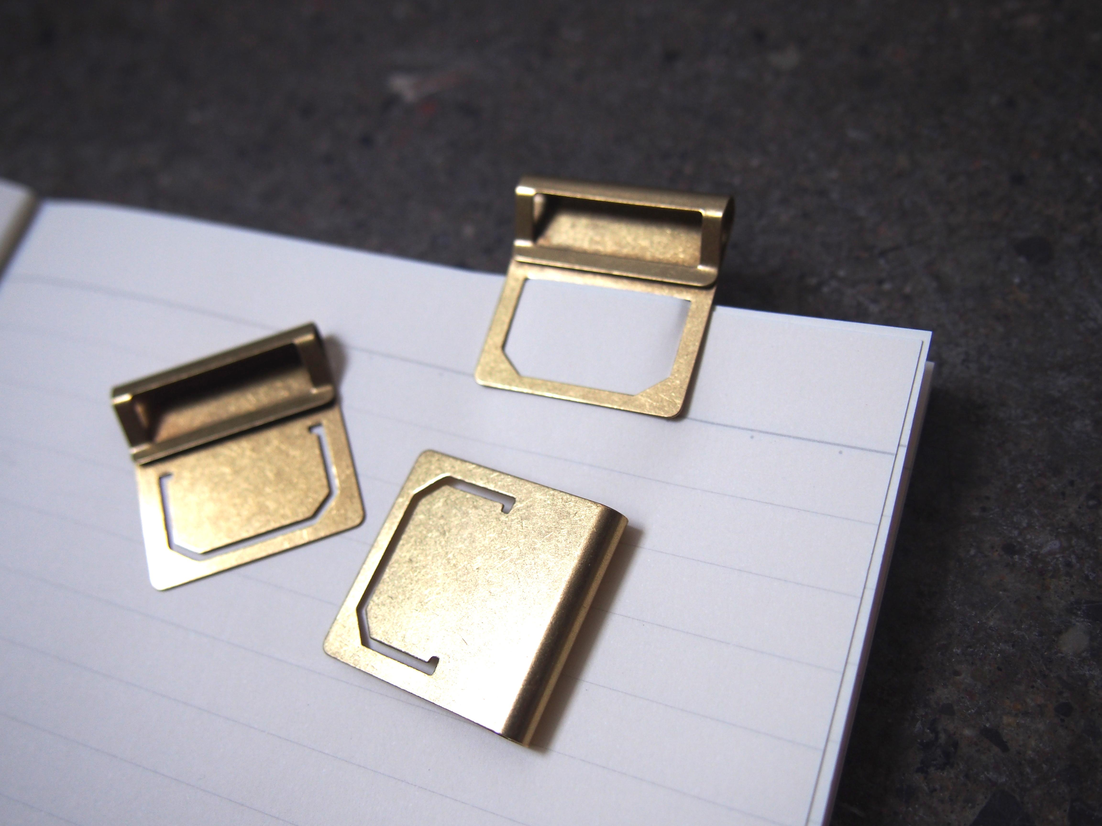 Midori Brass Index Clips Wonder Pens Blog wonderpens.ca Toronto Canada