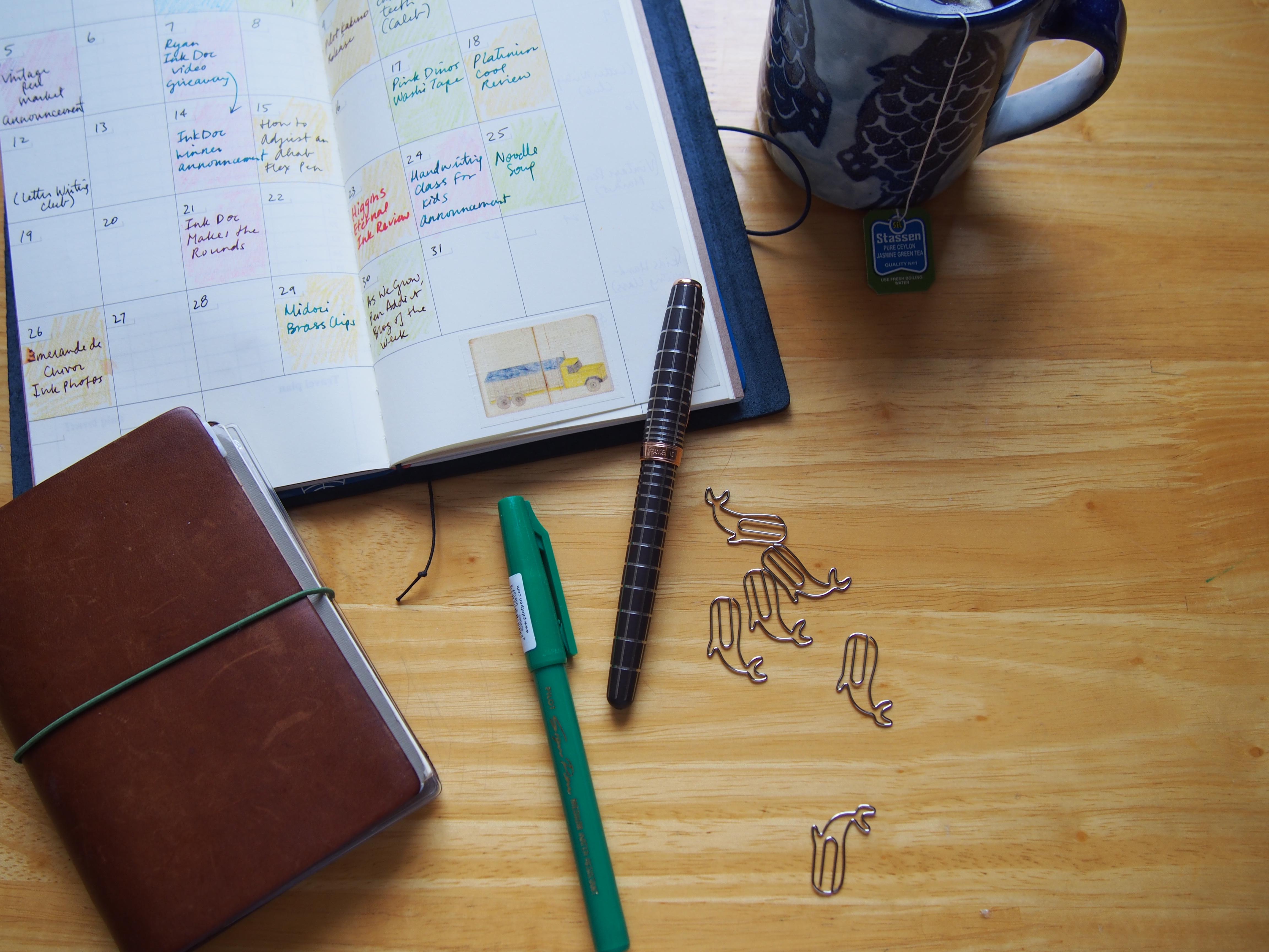 Midori Traveler's Notebook Set Up Wonder Pens Blog wonderpens.ca Toronto Canada