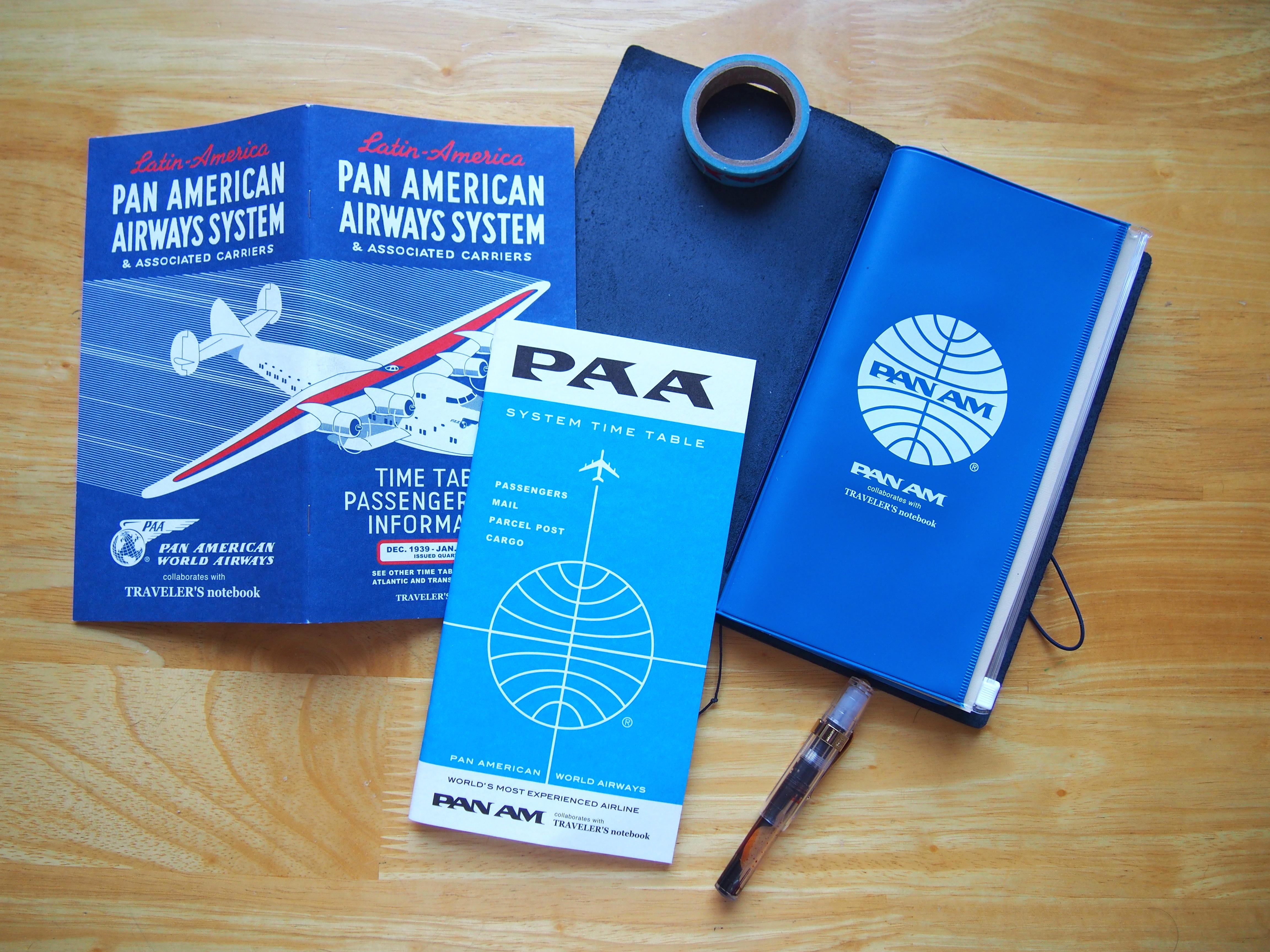 Midori Traveler's Notebook Pan Am Blue Edition Wonder Pens Blog wonderpens.ca Toronto Canada