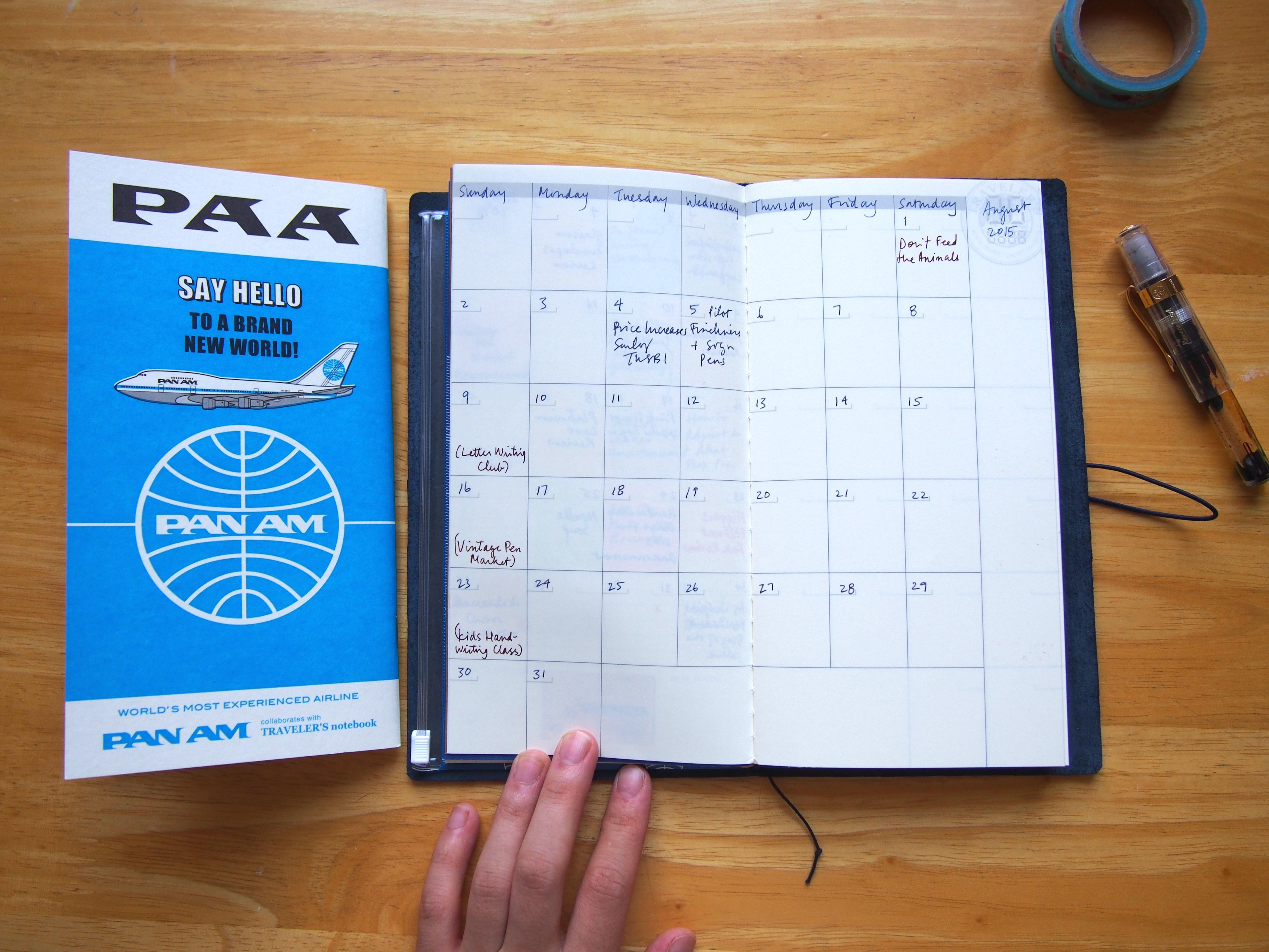 Midori Traveler's Notebook Pan Am Edition Wonder Pens Blog wonderpens.ca Toronto Canada