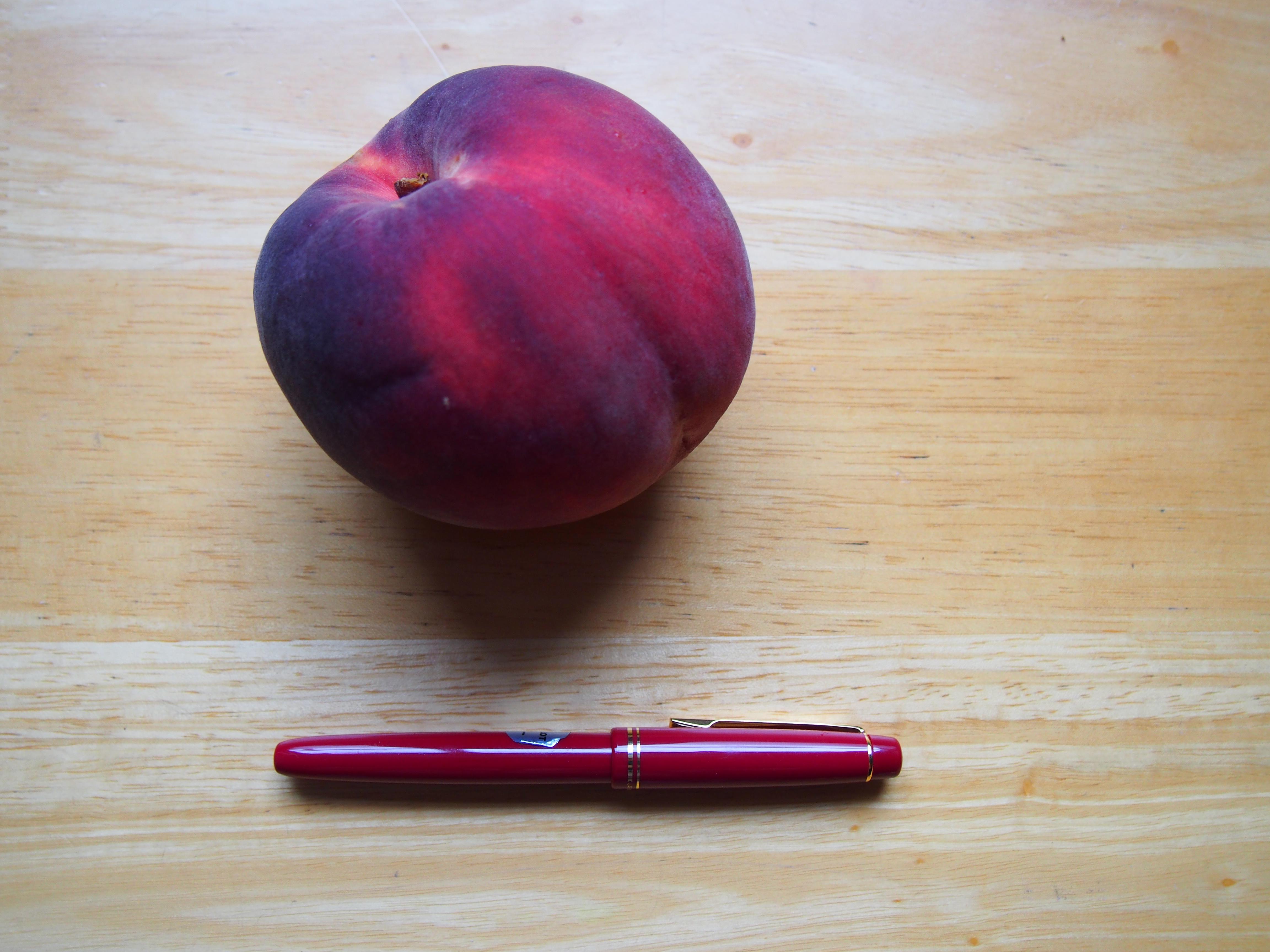 A very large peach
