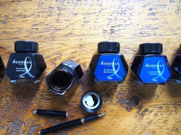 Waterman Fountain pen Inks Inspired Blue Serenity Blue Intense Black Toronto Canada wonderpens.ca Wonder Pens Blog