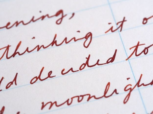 Writing Sample Parker Sonnet Fountain pen Gold Nib Diamine Ochre Wonder Pens Blog wonderpens.ca Toronto Canada