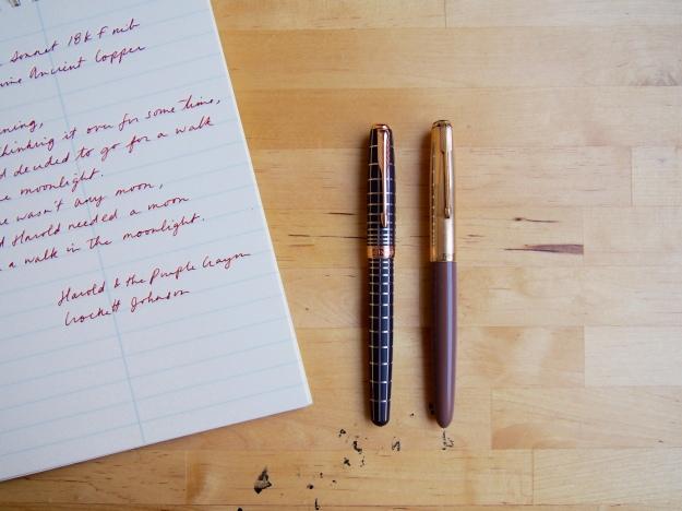 Parker Sonnet Fountain Pen to Parker 51 Size Comparison Wonder Pens Blog wonderpens.ca Toronto Canada