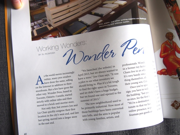 Pen World Magazine Wonder Pens Toronto Canada Fountain Pens