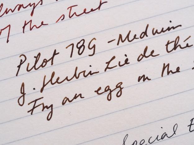 Pilot 78G Medium J Herbin Lie de The Writing Sample Wonder Pens Blog wonderpens.ca Toronto Canada